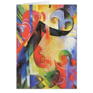 Broken Forms aka Zerbrochene Formen by Franz Marc Card