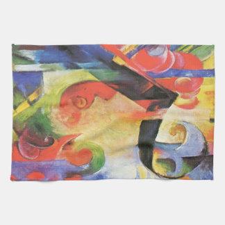 Broken Forms aka Zerbrochene Formen by Franz Marc Kitchen Towel