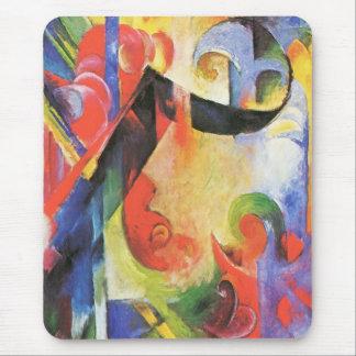 Broken Forms aka Zerbrochene Formen by Franz Marc Mouse Pad