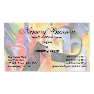 Broken Forms by Franz Marc aka Zerbrochene Formen Business Card