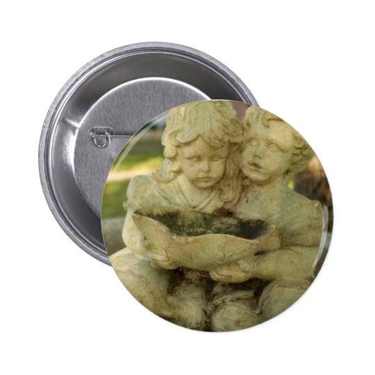 Broken Fountain Pinback Button