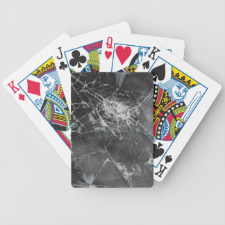 Broken glass 2 bicycle playing cards