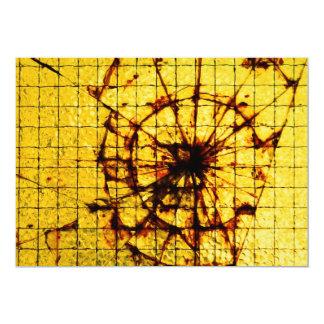 Broken glass 5x7 paper invitation card