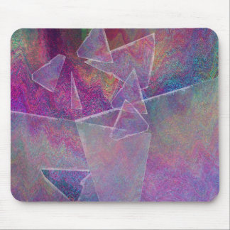 Broken Glass Abstract Art Mouse Pad