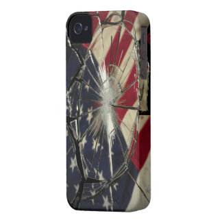 Broken Glass American Flag BlackBerry Bold Case