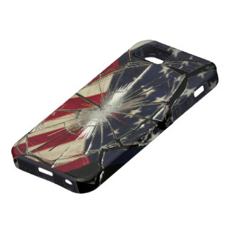 Broken Glass American Flag iPhone 5 Case-Mate Toug