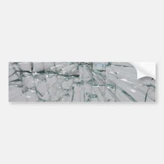 Broken Glass Background Bumper Sticker