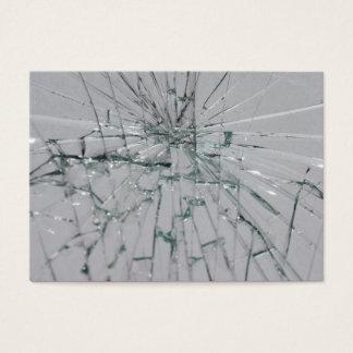 Broken Glass Background Business Card