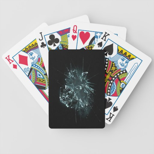 Broken glass bicycle playing cards