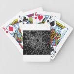 Broken glass black bicycle card decks