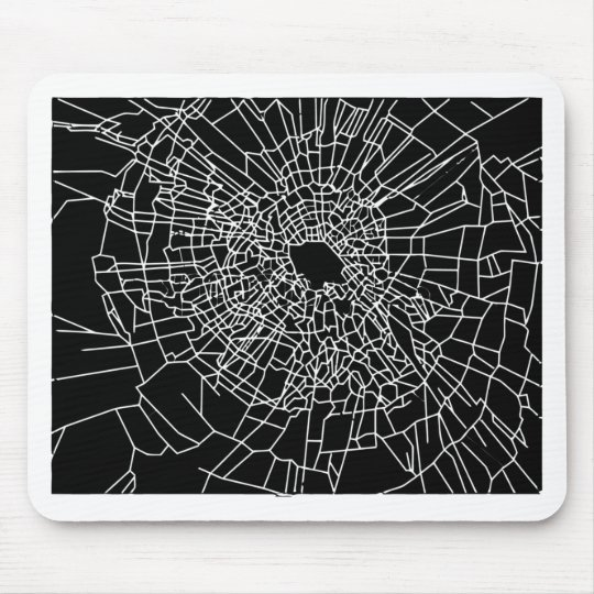 Broken glass black mouse pad