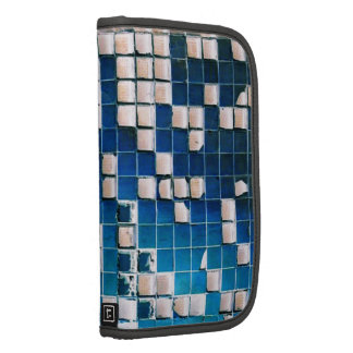 Broken Glass Block Squares Texture blue white Folio Planners