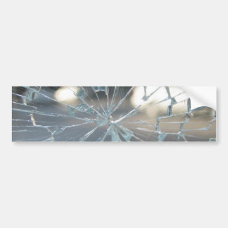 Broken Glass Bumper Sticker