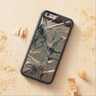 Broken Glass Carved Maple iPhone 6 Bumper Case