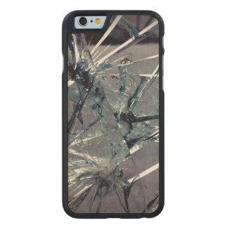 Broken Glass Carved Maple iPhone 6 Slim Case