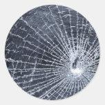 Broken Glass Classic Round Sticker