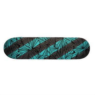 Broken Glass Diagonal Stripe Illustration Skateboard Deck