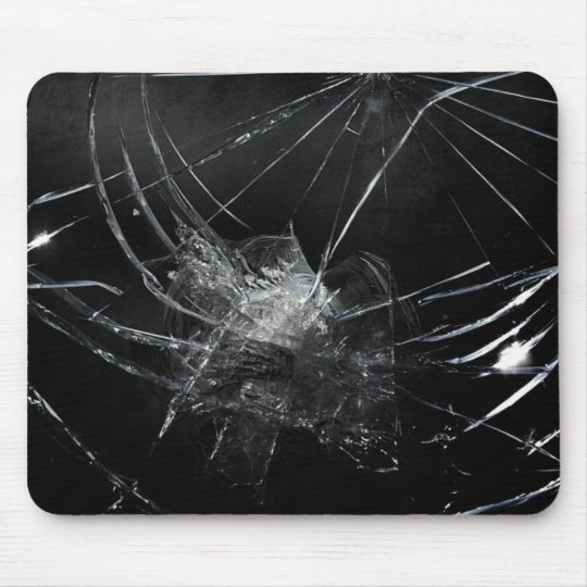 Broken glass mouse pad