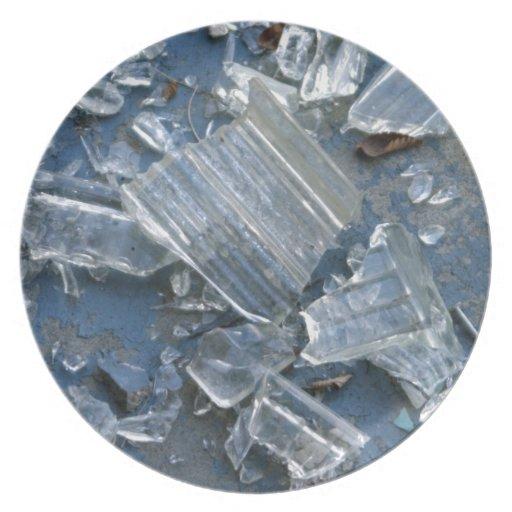 Broken Glass Party Plate