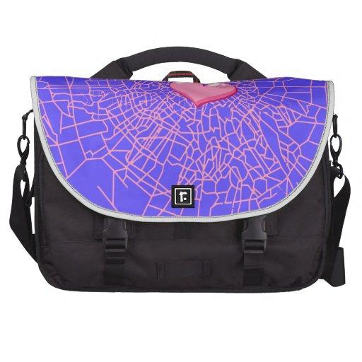 Broken glass Pink heart Bag For Laptop