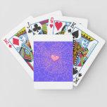 Broken glass Pink heart Poker Cards