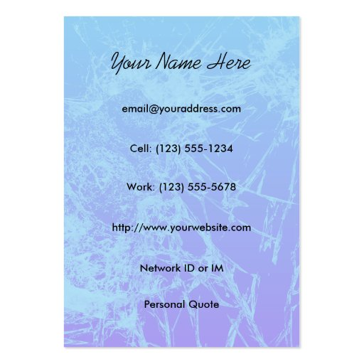 Broken Glass Profile Business Card Template