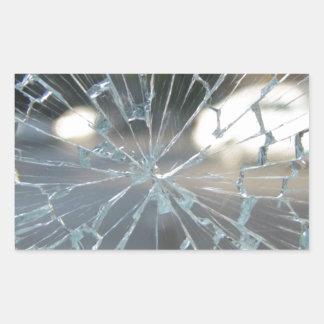 Broken Glass Rectangular Sticker