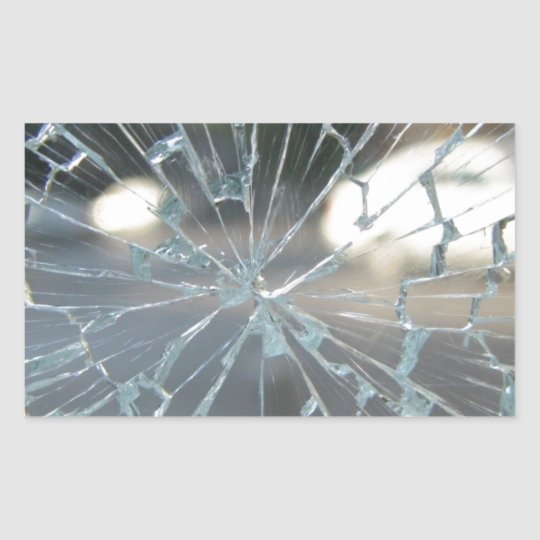 Broken Glass Rectangular Sticker