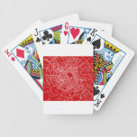 Broken glass Red Bicycle Poker Cards