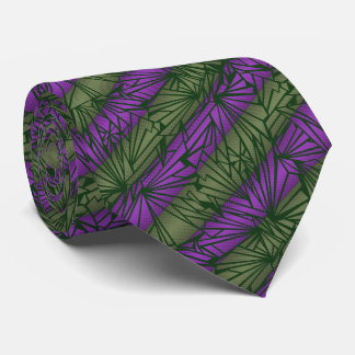 Broken Glass Stripe Vintage Two-sided Tie