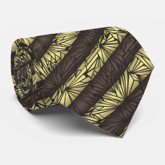 Broken Glass Striped Vintage Two-sided Neck Tie
