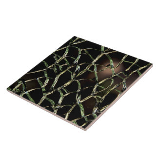 Broken ceramic tiles zazzle for Cracked mirror tiles