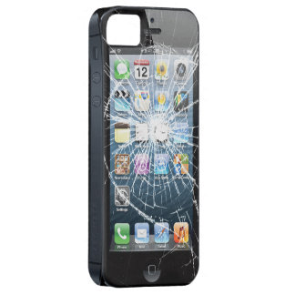 Broken Glass with side buttons iPhone SE/5/5s Case