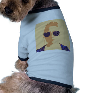 Broken Glasses Print (2) Doggie Tshirt