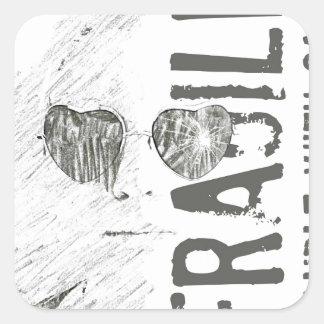 Broken Glasses Print (5) Square Sticker