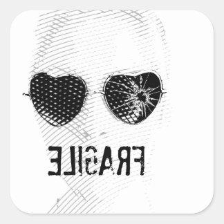 Broken Glasses Print (6) Square Sticker