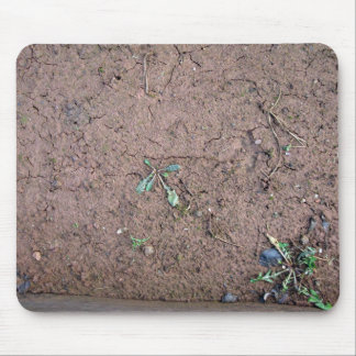 Broken ground field texture mouse pad