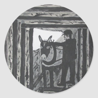 Broken Harness Classic Round Sticker