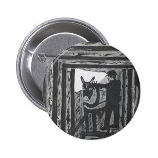 Broken Harness Pinback Button