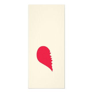 """Broken Heart 4"""" X 9.25"""" Invitation Card"""