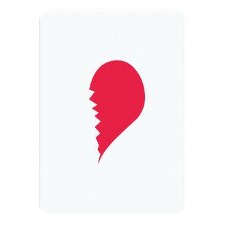 Broken Heart 5x7 Paper Invitation Card