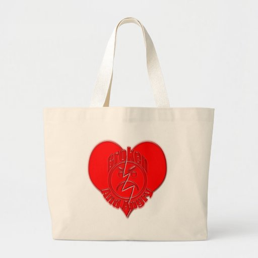 Broken Heart Angry Sad Face Bag