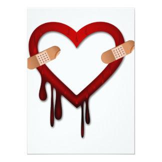 broken heart anti valentines day card