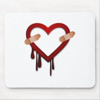 broken heart anti valentines day mouse pad