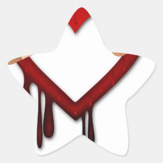 broken heart anti valentines day star sticker