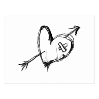 BROKEN HEART-BIG POSTCARD