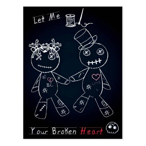 Broken Heart Blue Glow.jpg Postcard