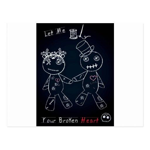 Broken Heart Blue Glow.jpg Post Card