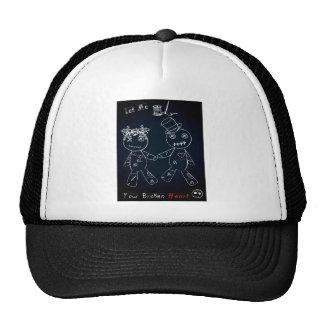 Broken Heart Blue Glow.jpg Trucker Hat
