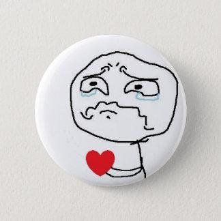 Broken Heart Comic Face Button